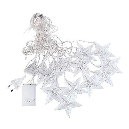 3-M 138 L-EDS Star String Light Home Curtain Decoration Christmas Holiday Party Flashing Light String Lights (Color : White)