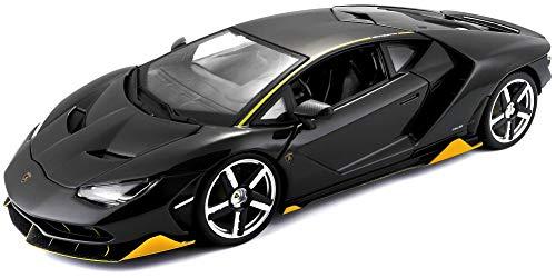 Maisto Lamborghini Centenario: modelauto met vering, schaal 1:18, deuren en motorkap beweegbaar, klaar model, bestuurbaar, zwart (531386)