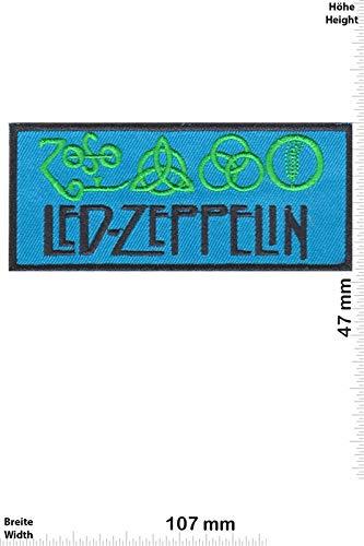 Led Zeppelin Blue parche patch bordado logotipo planchar