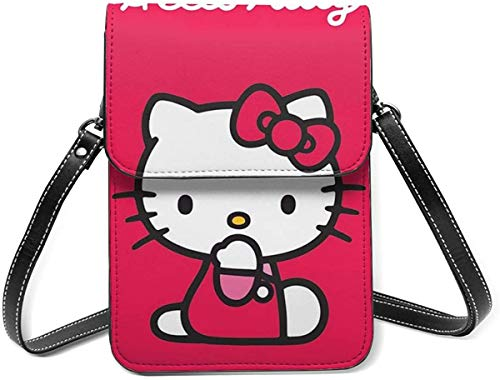Red Hello Kitty Cell Phone Purse Small Crossbody Bag Wallet Shoulder Bag Card Holder Handbag For Women New Year 2021