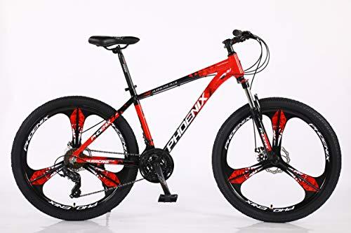 Phoenix Mountain Bike/Bicycle Aluminium Frame 21Speed (SHIMANO) 26' Wheel (Red)