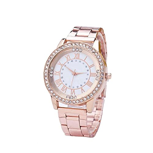 MICHAELA BLAKE Reloj de señoras de Las Mujeres del Reloj de la dureza del Vidrio cristalino con Acero Inoxidable de la muñeca