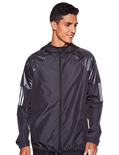 adidas Herren Windbreaker Full-Zip Sweatshirt, Black, M