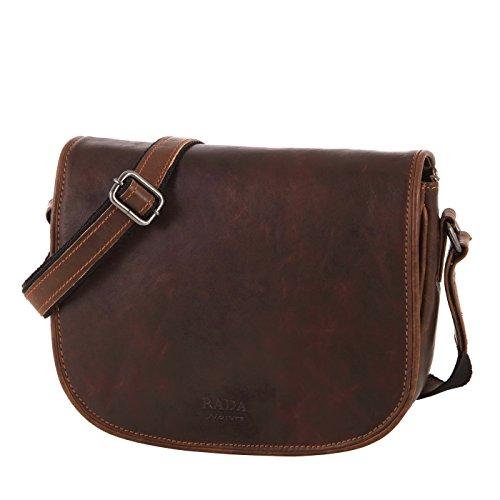 Rada Nature Umhängetasche Coruna echt Leder Handtasche in verschiedenen Farben (sandal)