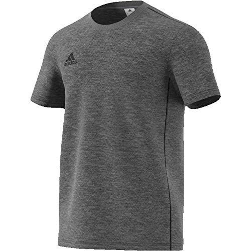 adidas Herren CORE18 Tee T-Shirt, Dark Grey Heather/Black, 2XL