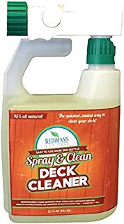 Wash Safe Industries WS-SC-HE Spray and Clean Composite Deck Cleaner, Hose End Bottle, 32 oz. Spray Jug, Clear