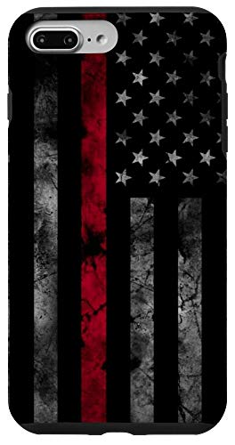 iPhone 7 Plus/8 Plus Thin Red Line USA Flag Axe Vintage Firefighter Fireman Gift Case