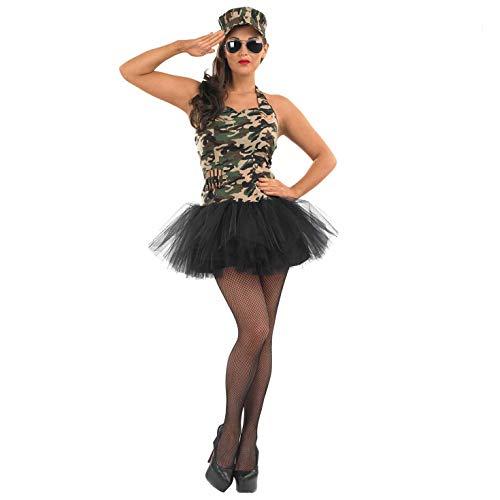 Fun Shack Déguisement Uniforme Militaire Armée Vert pour Femme - Taille L