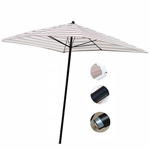 Top QUALITY 2.7m TONDO ombrellone da giardino Garden Parasol Sole Ombra Manovella