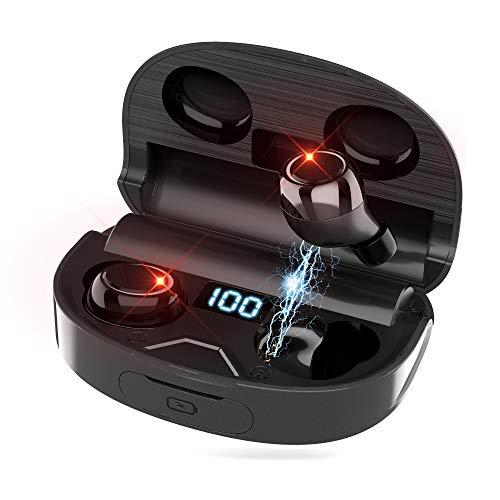 Bluetooth Kopfhörer Xunpuls drahtlose In Ear Kopfhörer mit Bluetooth 5.0 IPX7 wasserdichte TWS Stereokopfhörer Integriertes Mikrofon Bassreicher Sound zum Trainieren und Laufen