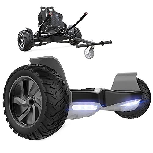 GeekMe Self Balance Scooter 8,5 '' All-Terrain mit leistungsstarkem Motor Bluetooth eingebaut + Hoverkart Zubehör für Elektrisches Scooter