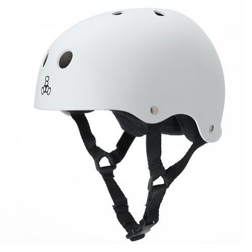 Triple Eight Sweatsaver Liner Skateboarding Helmet, White Rubber, XX-Large