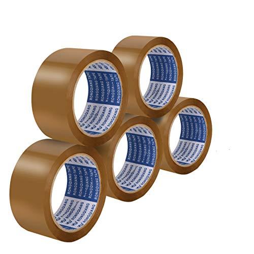 DLOPK Cintas adhesivas de embalar, utilizadas para el embalaje y sellado, eliminación de polvo de ropa/teclado/piso, etc, 48MM * 66M * 45U (5 unidades)