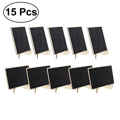 NUOLUX 15pcs Mini Cuadros Negros para rotuladores de Tiza para botonera Message...