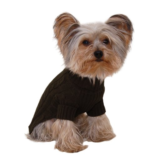 Stinky G Turtleneck Dog Sweater Olive Green Size #14