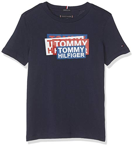 Tommy Hilfiger Jongens Sticker Print Tee S T-shirt