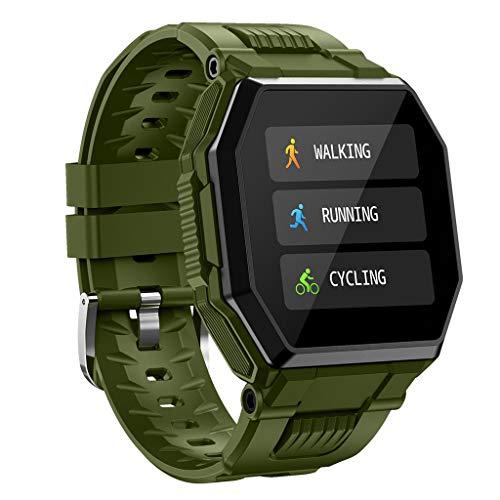 APCHY Reloj Inteligente Smartwatch De Hombres, Rastreadores De Actividades De 1,54 Pulgadas De Pantalla Grande Deportes Multifuncional Pulsera Impermeable, Pulsera De Monitoreo De Temperatura,Verde
