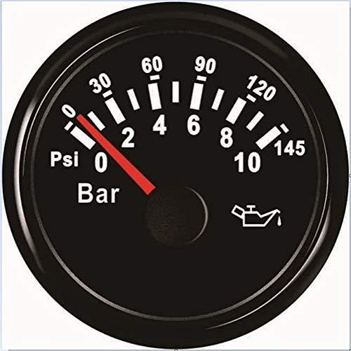 "no-branded Kraftstoffanzeige 2"" Boots-Auto-Motor-Öldruckmesser Meter 0-10BAR 0-145PSI Universalkraftstoffdruck 12V 24V CGFEUR (Color : BN, Size : Kostenlos)"
