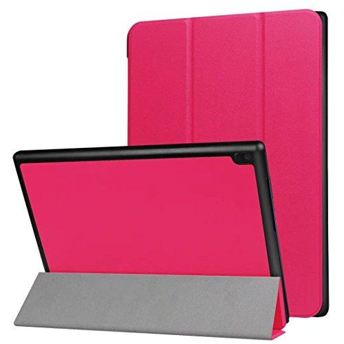 XITODA Lenovo Tab 410Funda, Ultra Slim PU Cuero Smart Carcasa con función Stand Funda para Lenovo Tab 410(tb-x304F) Tablet de 10,1Carcasa Case Protector Rosa roja