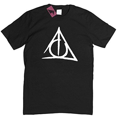 Prism Clothing Co. Camiseta Unisex para Hombre y Mujer Blanco Negro (S