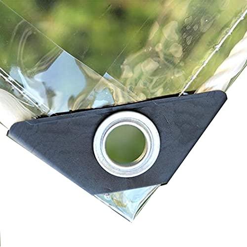 HAI RONG Lonas claras Tarpaulina Transparente, Lona Impermeable a Prueba de Agua Doblado de Metal Plegable 0,35 mm de Espesor para tabletas de plástico de Cubierta de Patio al Aire Libre