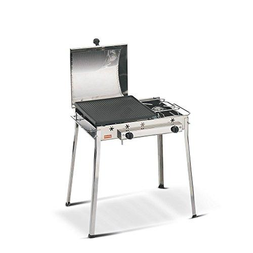 Barbecue au gaz et plaque grill COMBINATO INOX