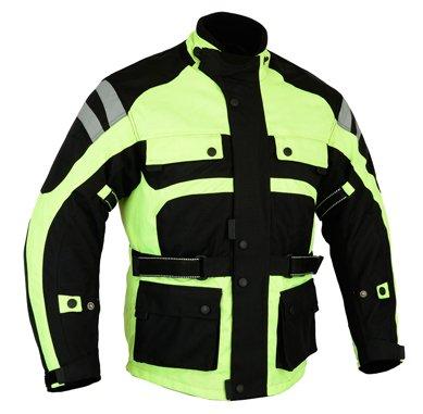 Bikers Gear The infinity moto giacca impermeabile ad alta visibilità alta visibilità CE1621–1PU Armour 3x L