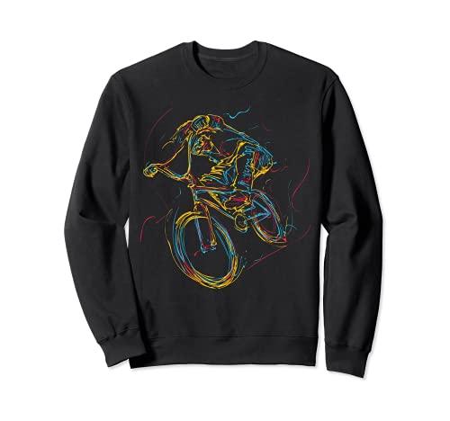 Arte abstracto colorido Barra de BMX Gira 180 360 Sudadera