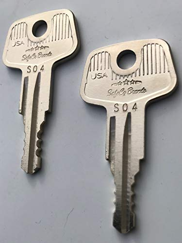 Boxlink Cleat Lock Keys for Ford F150 F250 F350 Key Codes S01 - S20 SafeCo Brands 2-Keys (S02)