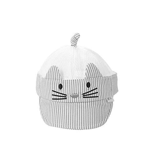 Demiawaking Chapeau détachable de bébé La Cabina Chapeau de Baseball de Coton de Coton de Dessin animé d'été Chapeaux détachables de bébé
