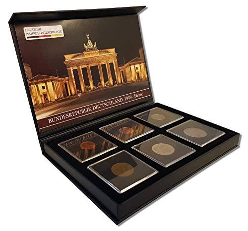 IMPACTO COLECCIONABLES Deutsche Währungsgeschichte, 6 Münzen Bundesrepublik Deutschland 1949-Heute