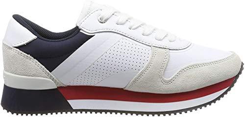 Tommy Hilfiger Damen Active City FW0FW Sneaker, Weiß (White Fw0fw04304-020), 41 EU