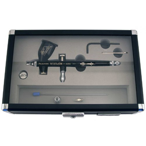 Paasche Airbrush Vision Gravity Feed Double Action Airbrush Set by Paasche Airbrush