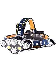 Zenoplige led ヘッドライト 超高輝度 USB 充電式 24点照明モード ヘッドランプ IPX5 防水 アウトドア 登山 夜釣り 作業灯 18650電池付属