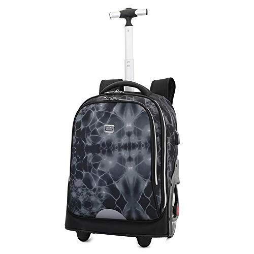 FREETT Unisex Trolley Backpack, High Capacity Trolley Suitcase, Luggage Case Bag for Child Student and School, Waterproof,9