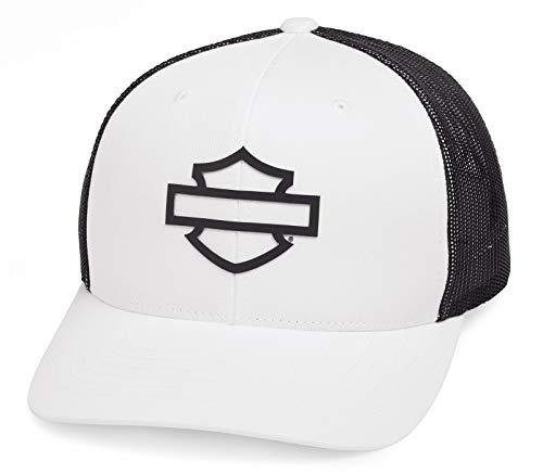 HARLEY-DAVIDSON Herren Baseball-Cap Biker B&S Trucker Kappe Kopfbedeckung Motorrad Basecap Cappy Einstellbarer Snapback