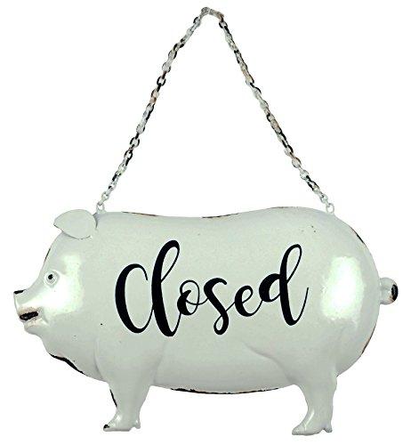 Creative Beeinflußt Rustikaler Stil Farmhouse Offen und Geschlossen Zum Aufhängen Pig Schild