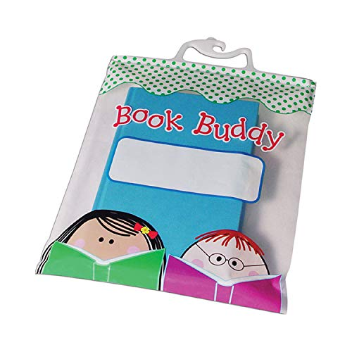"""Creative Teaching Press Stick Kids Book Buddy Bags, CTP Classroom Supplies, Multi-Color, Pack of 6, 10 1/2"""" x 12 1/2"""""""