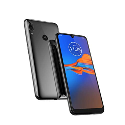 Motorola Moto E6 Plus, 6.1 Inch Android 9 Pie, UK SIM Free Smartphone, Polished Granite