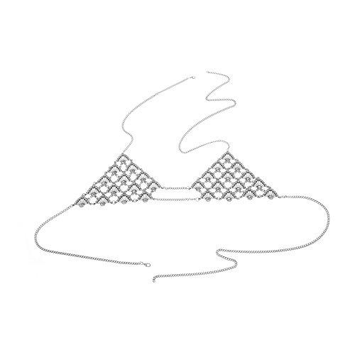 J.Memi's Legierung Rhinestone Cadena Pecho Cintura Forma Ventilador Simple Conciso Serie De Playa KH-2463 Para Mujeres