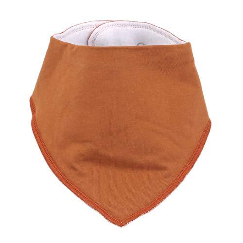 Baberos para bebé MAJFK Baberos de algodón puro suave y absorbentes para bebés y niñas, para la dentición y babeando, color marrón