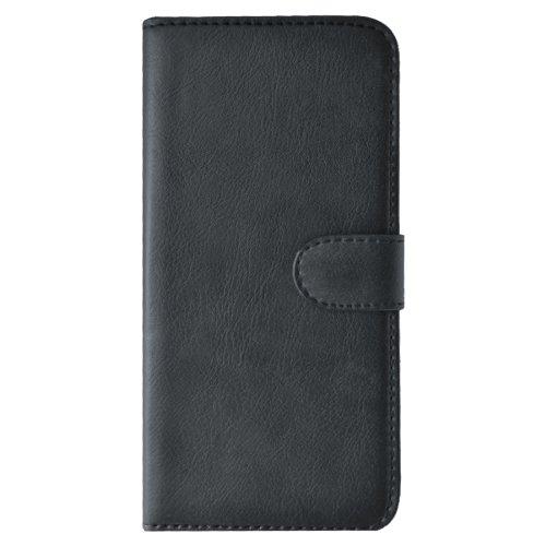 Slabo Flip Case Cover in Bookstyle für LG G4 - ECHT Leder - SCHWARZ   Black