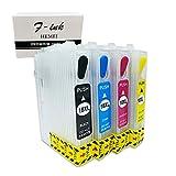 Hemei@, 16XL, cartucce di inchiostro vuote, ricaricabili, per stampanti WF-2510, WF-2520NF, WF-2530, WF-2540 e WF-2010W, 4 pezzi, 16XL