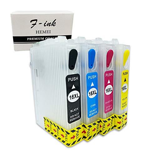 HEMEI 16XL leere wiederaufladbare Tintenpatrone, kompatibel mit Workforce WF-2750DWF WF-2630WF WF-2510WF WF-2650DWF WF-2010W WF-2520NF WF-2530WF WF-2540WF WF-2660DWF Drucker