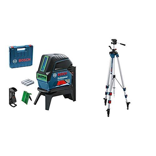Bosch Professional Crossline-Laser GCL 2-15 G (GCL 2-15 G; RM 1 Professional; 3x 1,5 V LR6-Batterien (AA); Gehäuse (+ L-Boxx-Ready)) & Baustativ BT 250 (Arbeitshöhe: 97,5-250 cm, 3,4 cm, 1/4 Zoll)