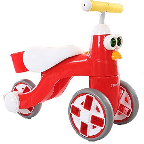 Colores empuje las bicis For niños de 1 a 3 años de edad Niño Niña de acero de carbono de alta competitiva equilibrio del coche sin pedal al aire libre del niño de la bici del bebé de dibujos animados