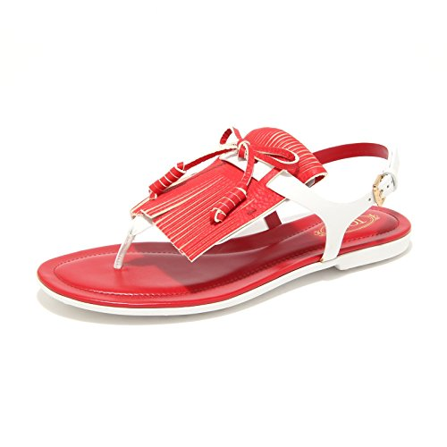 Tod's 8019L Infradito Donna Gomma Macro Frangia Shoes Flips-Flops Women [38]