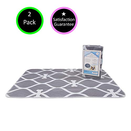 Extra Absorbent, Non Slip, Eco Friendly, Premium Washable Reusable Pee Pads for Dogs | 2 x Extra...