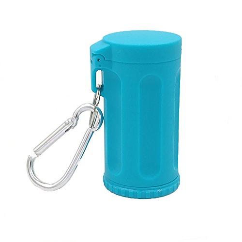 Honoro Cenicero portátil con Tapa para Exterior, ABS sin Humo, Resistente al Viento, con Llavero, Azul