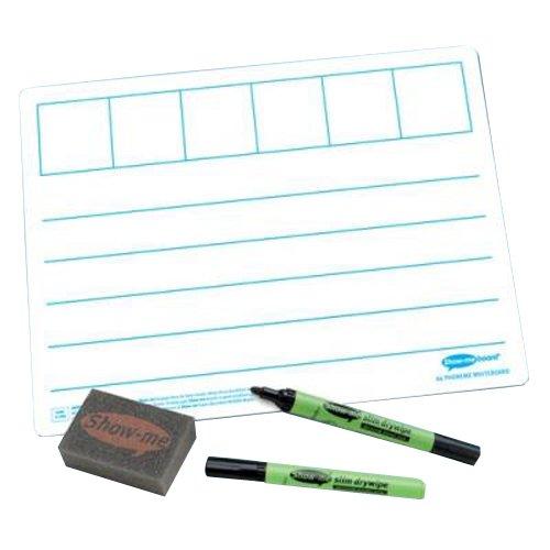 SG onderwijs EP C/LPB6 show-me phonem frame 650 micron PVC bord met mini droog afwisbare pen en mini-gum, A4 formaat (35 stuks)